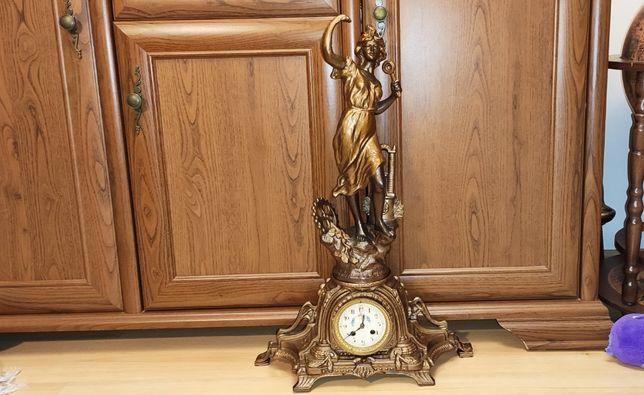 Bardzo duży, zegar kominkowy ,XIXw,Francja,unikat