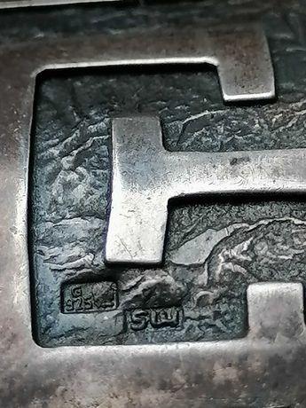 Bransoletka Srebrna Szeroka Stare srebro +Pierścionek srebrny GRATIS