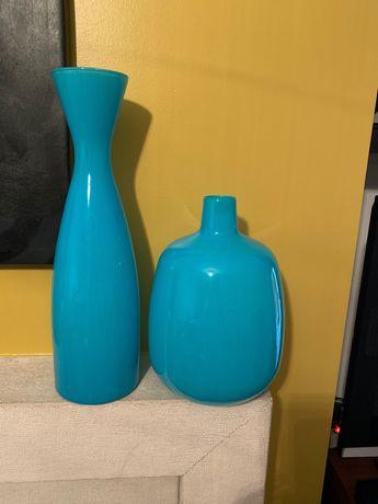 LOJA DO GATO PRETO conjunto vasos vidro Azul como NOVOS