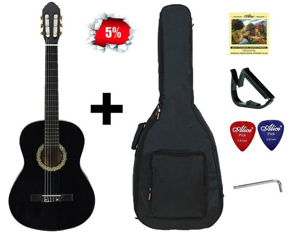 Гітара класична повнорозмірна ALMIRA CG-1702 BK (повний набір). ЗНИЖКА