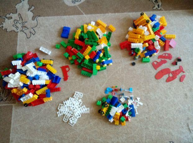 Продам строительные кубики + липкий конструктор