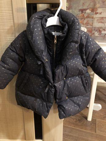 Zara куртка пуховик 9-12