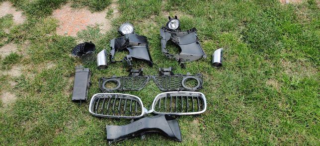 BMW F30 atrapy halogenów nerki halogeny, tylny dyfuzor, końcówk wydech