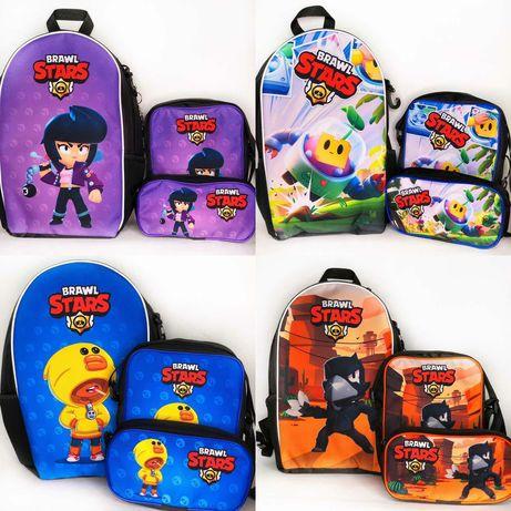 Подарок мальчику и девочке: Рюкзак, сумка, пенал Бравл старс