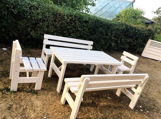 Stół, ławki, krzesła do ogrodu - Komplet ogrodowy - Meble ogrodowe