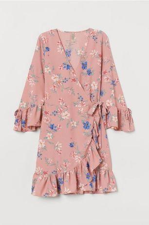 Новое милейшее платье на запах в цветочный принт,нарядное платье h&m