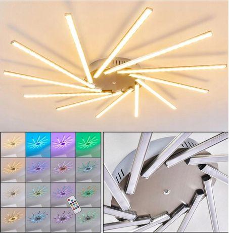 Lampa plafon żyrandol LED salon ,sypialnia kolor pilot GIGANT HIT