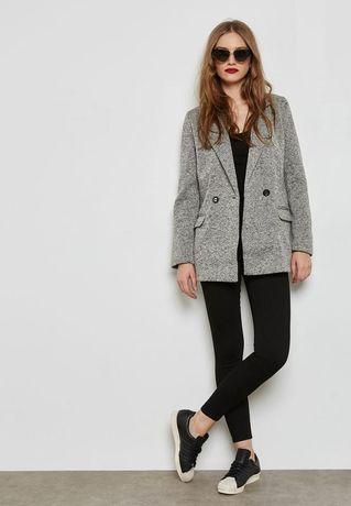 Новый блейзер, теплый пиджак-пальто , серый кардиган, свободный пиджак