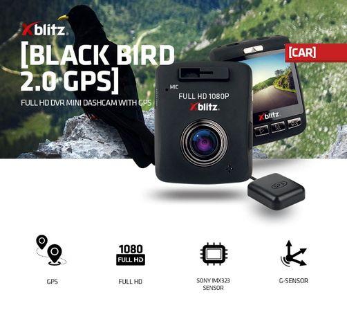 "Видеорегистратор Xblitz Black Bird 2.0 GPS FullHD/2""/140"