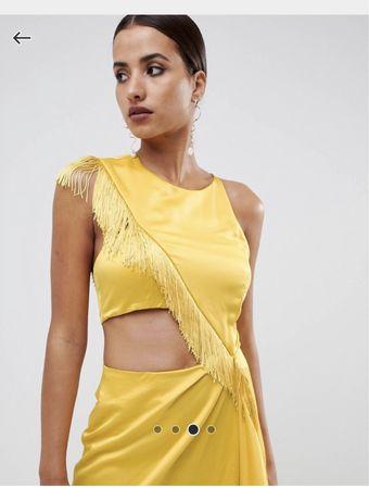 Vestido Amarelo Asos