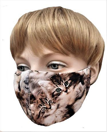 Maski dziecięce i młodzieżowe w koty