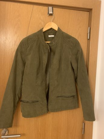 Casaco verde tropa tecido tipo bombazine