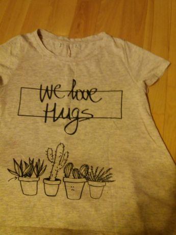 Bluzką w kaktusy+legginsy rozm xs