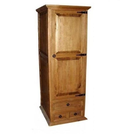 Szafa drewniana wąska rustykalna stylowa stylizowana