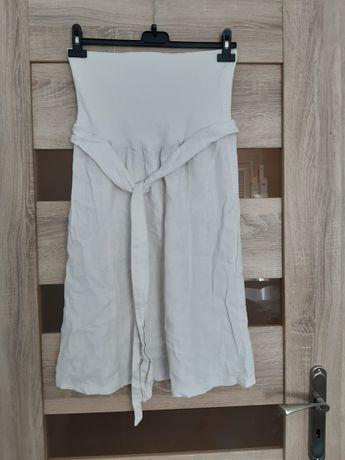 Spódnica ciążowa lniana  s/m gratis spodnie koszula