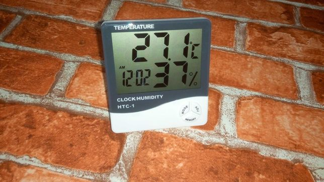 Метеостанция Часы, Гигрометр, Влагометр, Термометр HTC-1 99.98 грн