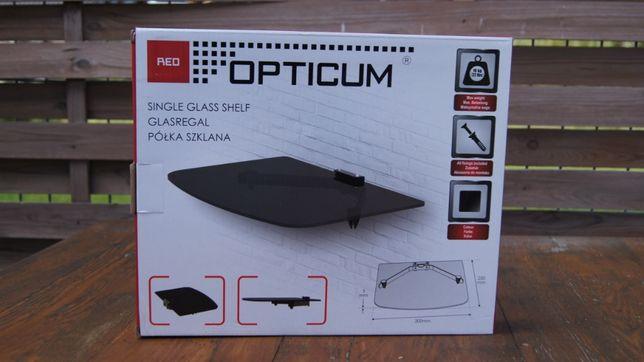 Półka szklana pod tv