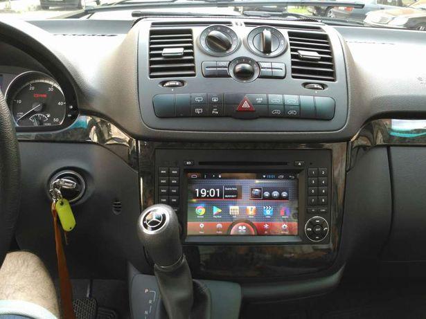 Auto rádio mercedes classe a b vito viano gps dvd bluetooth android