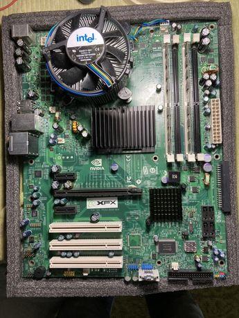 Материнская плата xfx soket 775 nforce 650 i ultra видеокарта xfx