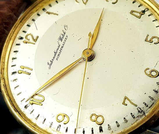 Zegarek męski IWC Schaffhausen Portuguese lata 50te złoto 14k Unikat