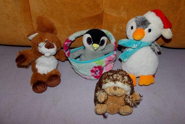 Мягкая, меховая игрушка - Пингвин Soft Toy, 24 см. зайка, ежик