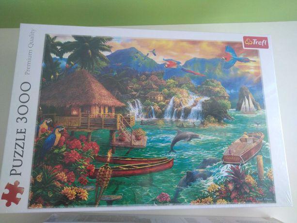 Puzzle 3000 elementów Życie na wyspie