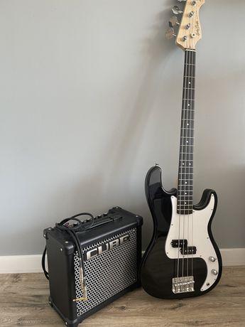 Elektryczna gitara basowa + wzmacniacz