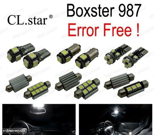 KIT COMPLETO DE 16 LÂMPADAS LED INTERIOR PARA PORSCHE BOXSTER 987 BASE S (2005-2011)
