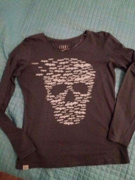 Siwa bluzeczka z czaszką Carry M