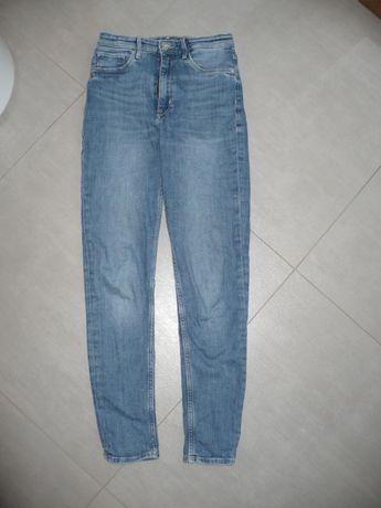 spodnie HM dżinsowe wysoki stan r.152