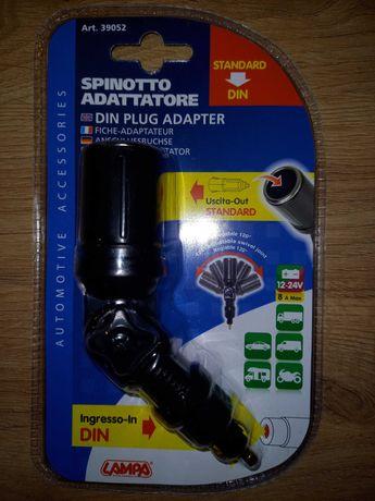Adapter , przejściówka zapalniczki 12/24v z malej na duża