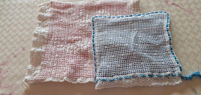 Sacos pão em crochê e tecido