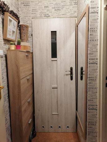 Drzwi łazienkowe 74x205cm 70 lewe z zamkiem i klamka dąb sonoma