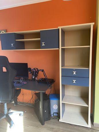 Meble młodzieżowe, dla dziecka, biurko +szafka + nadstawka