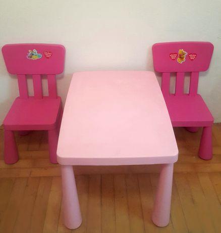 Ikea Mammut stół i krzesła dla dziewczynki