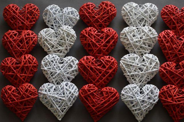 Serce z wikliny papierowej 16 cm