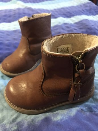Демисезонные кожаные ботинки next