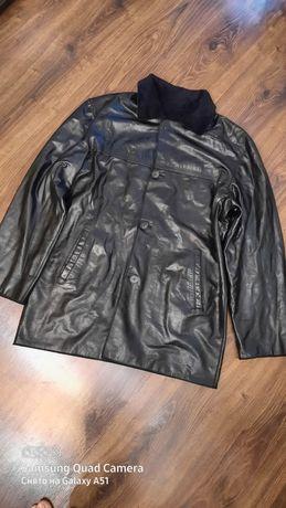 Двустороннее кожаное пальто мужское /на крой для пошива кожа 50-52 р
