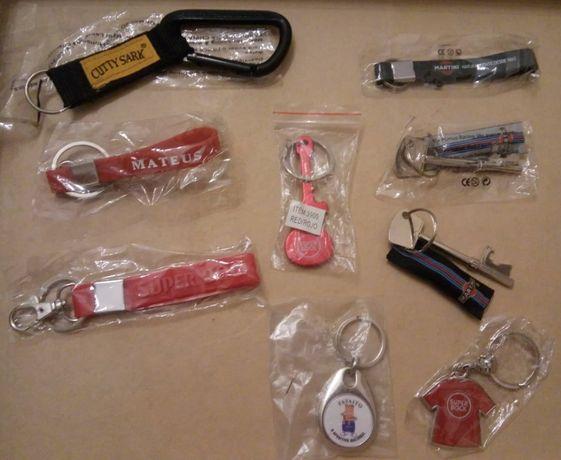 Diversos porta-chaves de marcas publicitárias - NOVOS