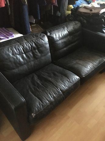 Sofa skórzana czarna