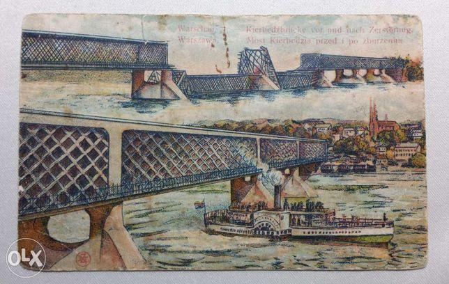 Karta pocztowa z 1920 r. - Most Kierbedzia