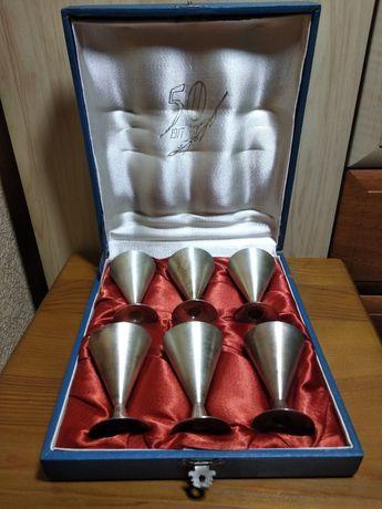 Набор серебряных рюмок серебро 916 проба, новое состояние