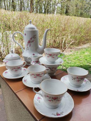 PRL serwis do kawy, herbaty, kawowy, herbaciany, porcelana Karolina
