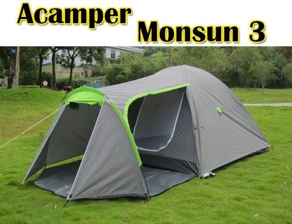 Палатка туристическая Acamper Monsun 3 PRO двухслойная новая