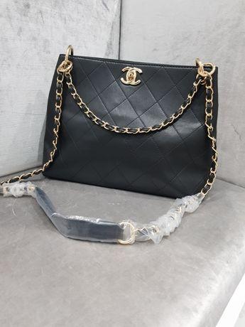 Piękna torebka Chanel tote bag czarna duża cc jakość