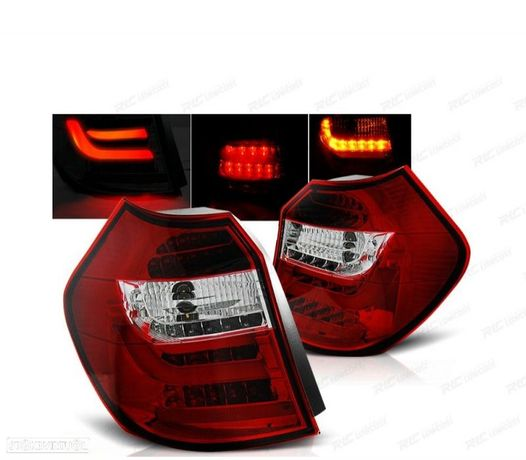"""FRAÓIS TRASEIROS LED BMW E87-E81 04-07 (VERMELHO) """"LED BAR"""""""