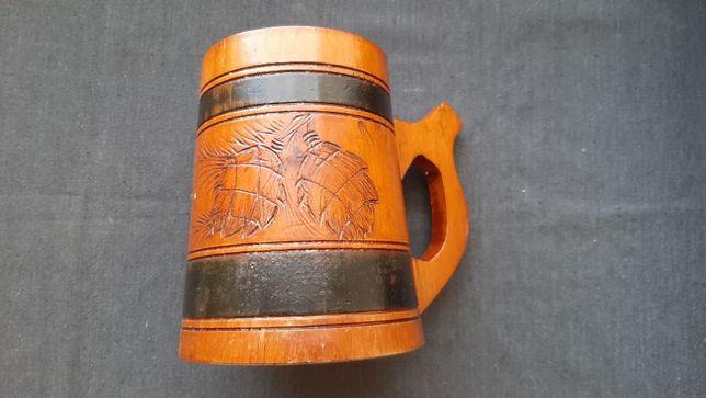 Пивная деревянная кружка (бокал) советский