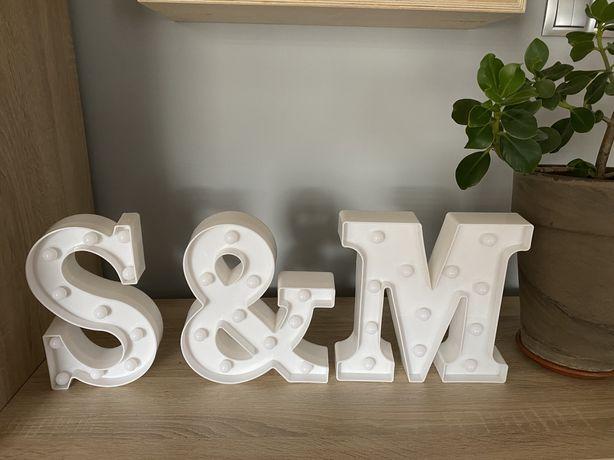 Lampki led ślub S & M