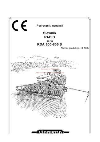 Instrukcja obsługi siewnika Nordsten Rapid 500-800S