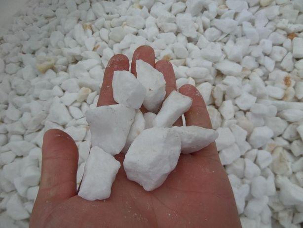 GRYS GRECKI THASSOS Kamień do Ogrodu 1 Tona śnieżnobiały